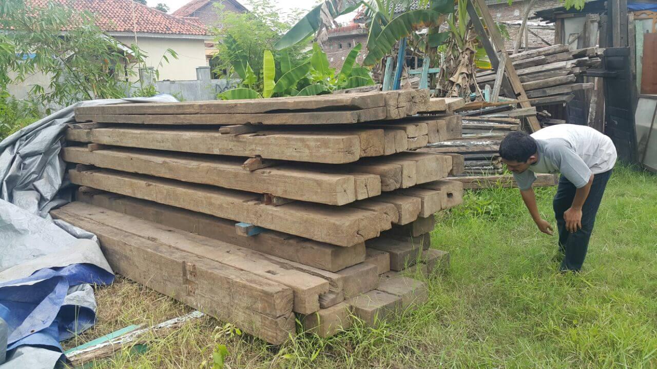 Mebel kayu jati bekas