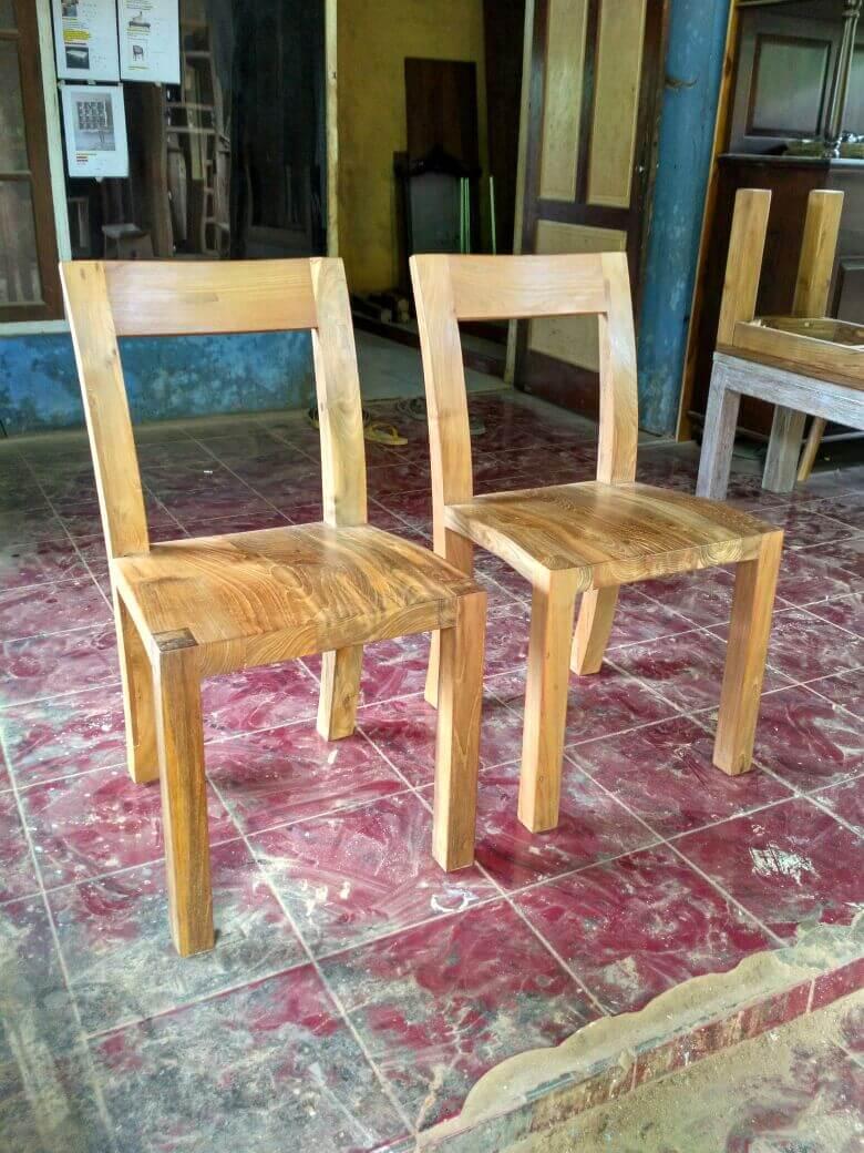 mebel kayu jati bekas - Kursi makan