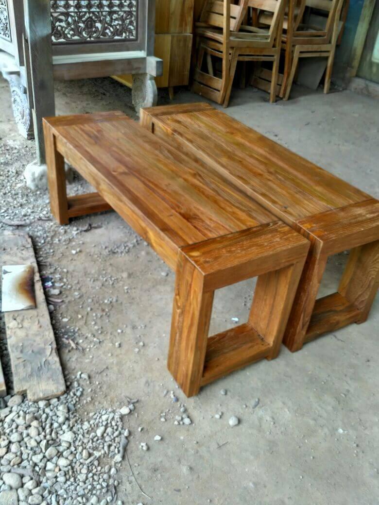 mebel kayu jati bekas - bangku minimalis