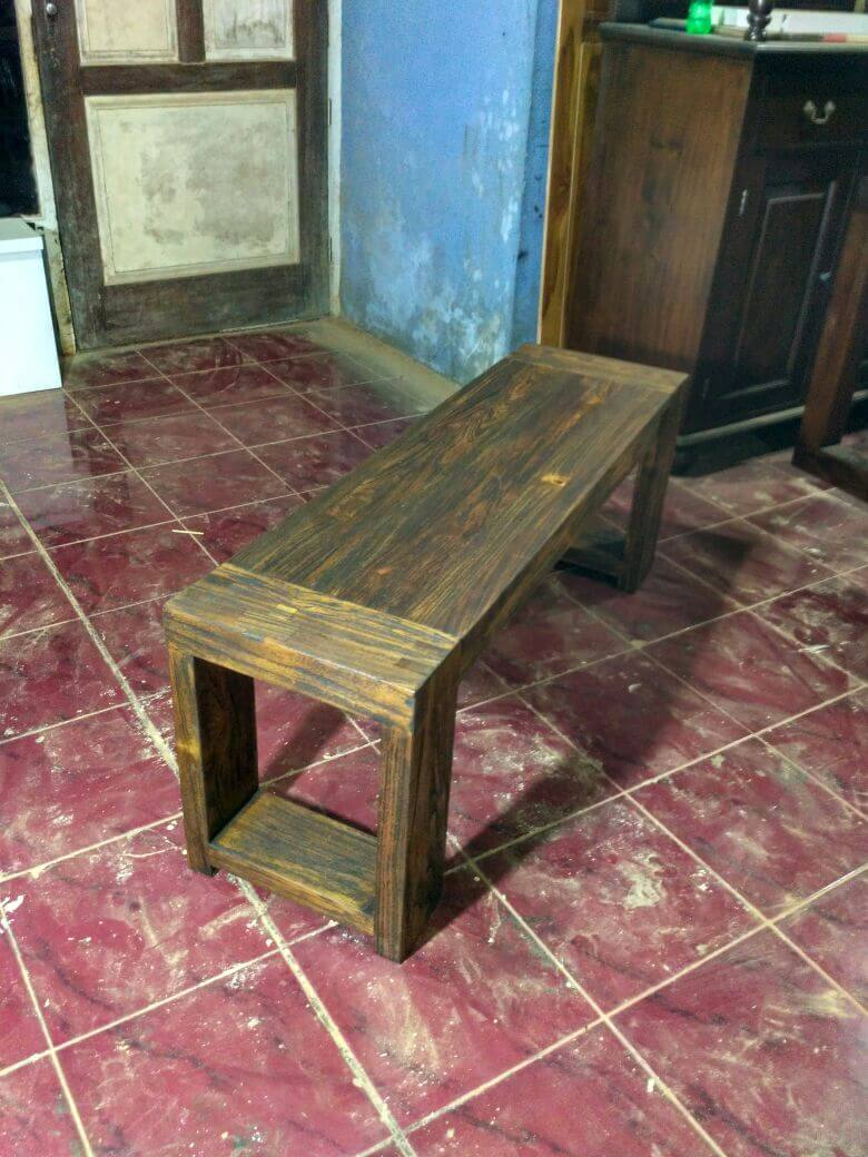 mebel kayu jati bekas - bangku rustic