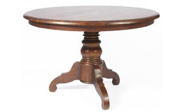 Meja Makan Bundar Antik Pedestal