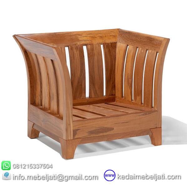 gambar kursi tamu jati minimalis karmina tanpa jok