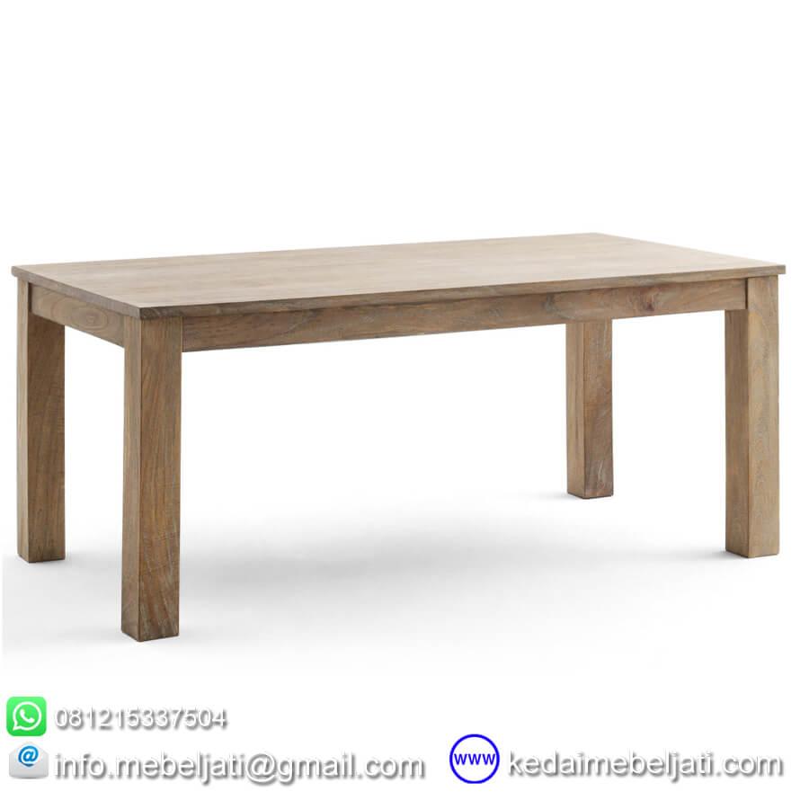 meja makan jati minimalis