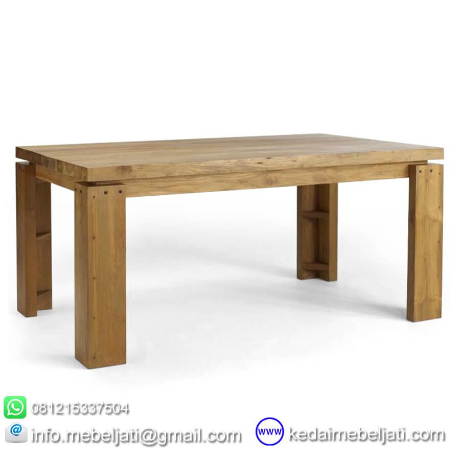 meja makan jati solid