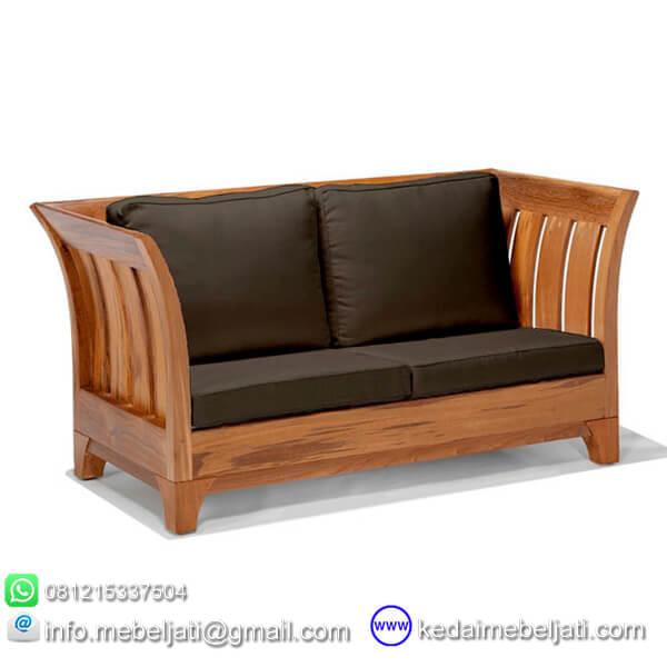 gambar sofa minimalis 2 dudukan karmina jok hitam