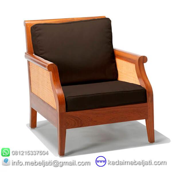 gambar kursi tamu minimalis andrea jok hitam