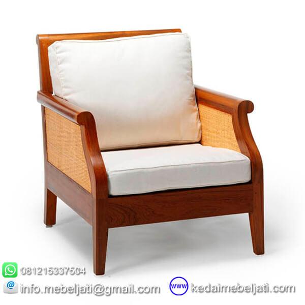 gambar kursi tamu minimalis andrea jok putih