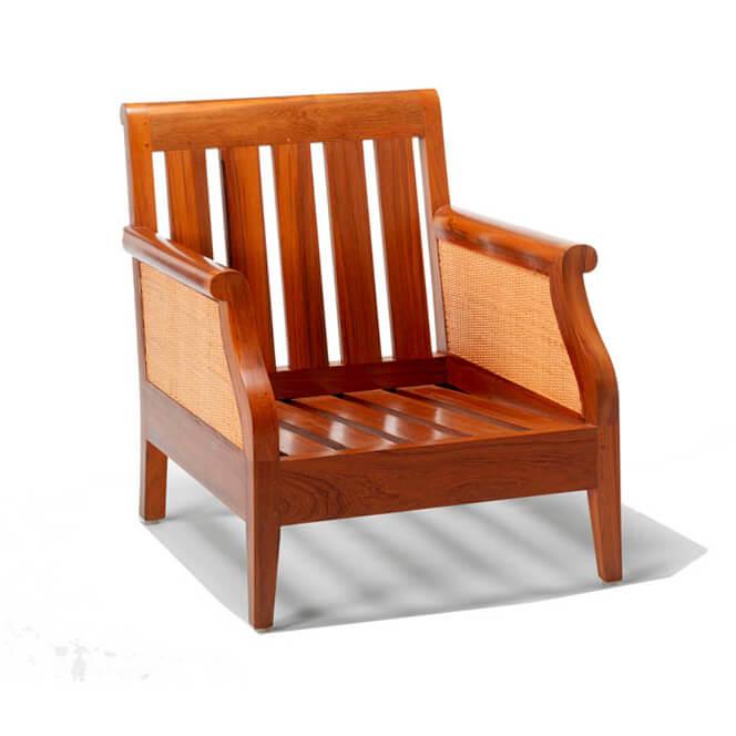 sofa jati minimalis andrea satu dudukan tanpa cushion