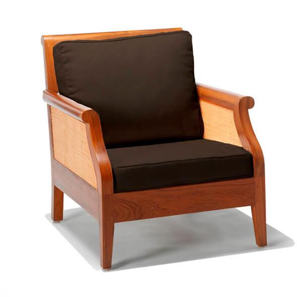 sofa jati minimalis andrea satu dudukan