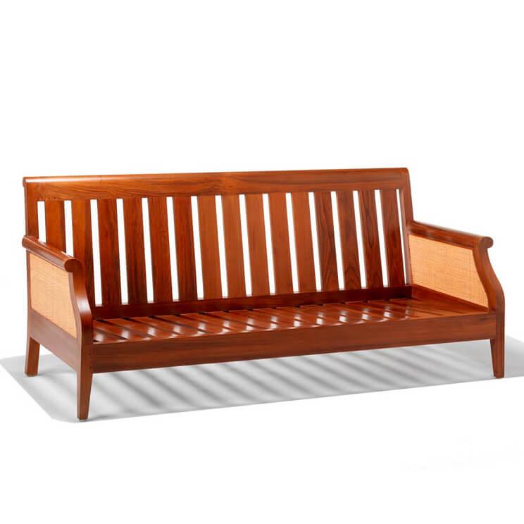 sofa jati minimalis andrea tiga dudukan tanpa cushion