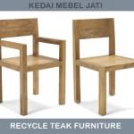 kursi makan dari kayu jati bekas