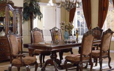 Set Kursi Makan Mewah Klasik Victorian