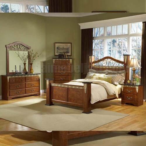Set Tempat Tidur Klasik Seri Mataram