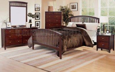 Set Tempat Tidur Kayu Jati Minimalis Vertikal
