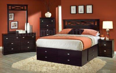 Set Tempat Tidur Minimalis Crossline