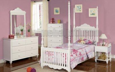 Set Tempat Tidur Anak Klasik Kanopi