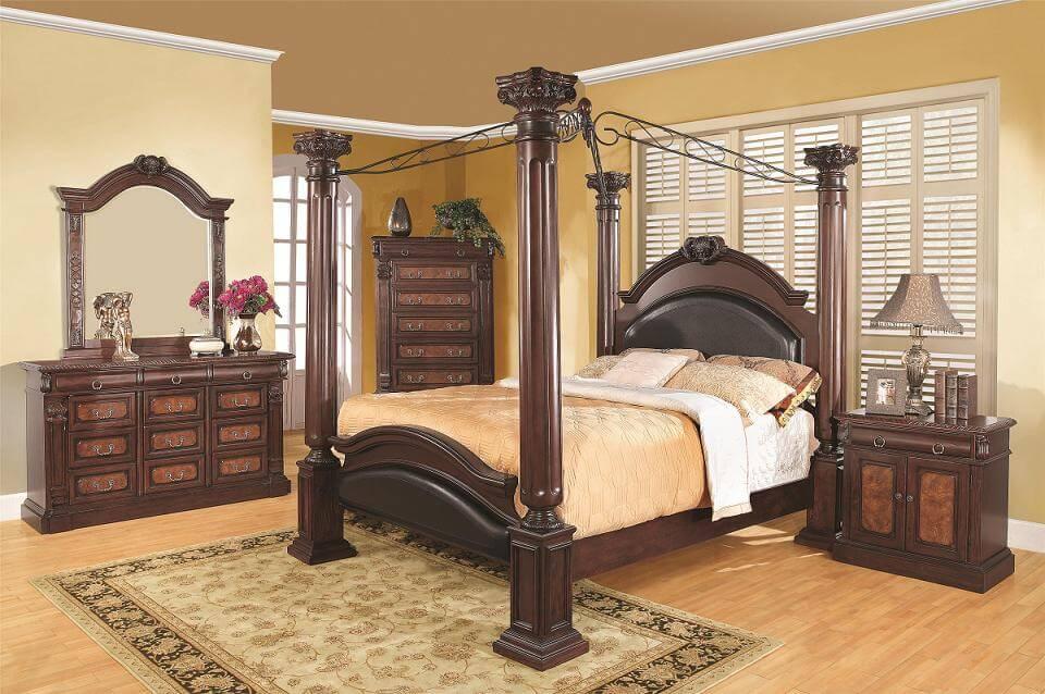 tempat tidur model kanopi