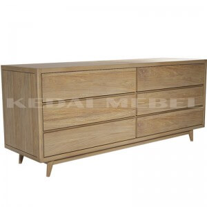 buffet kayu Set Mebel Minimalis Jati Retro