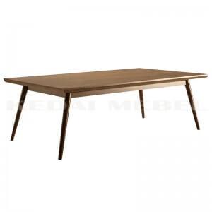 meja kopi kayu jati model minimalis retro