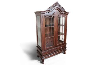 Lemari Pajangan Klasik Victorian 2 Pintu