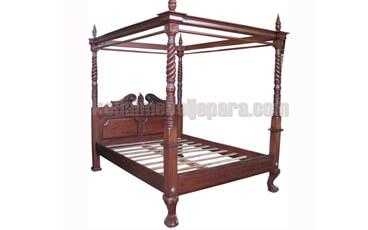 Tempat Tidur Antik Chippendale Kanopi