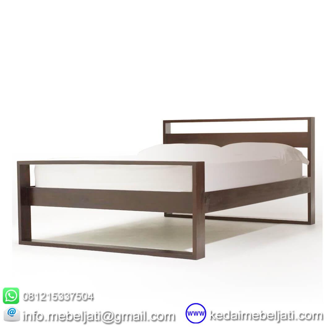 gambar tempat tidur jati minimalis horizon
