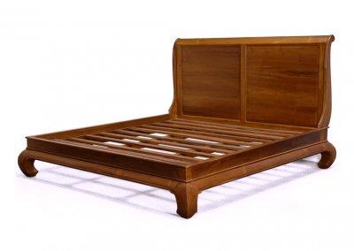 gambar tempat tidur jati model antik opium