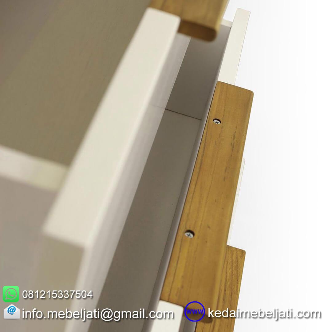 Bufet jati minimalis model terbaru KBF 070 detail laci