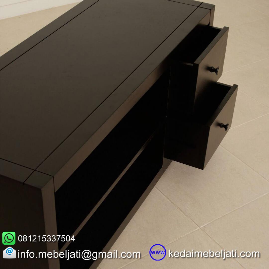 gambar detail laci bufet TV jati simple KTV 012
