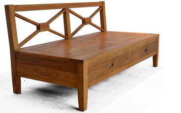Sofa Sectional Jati Minimalis Tengah