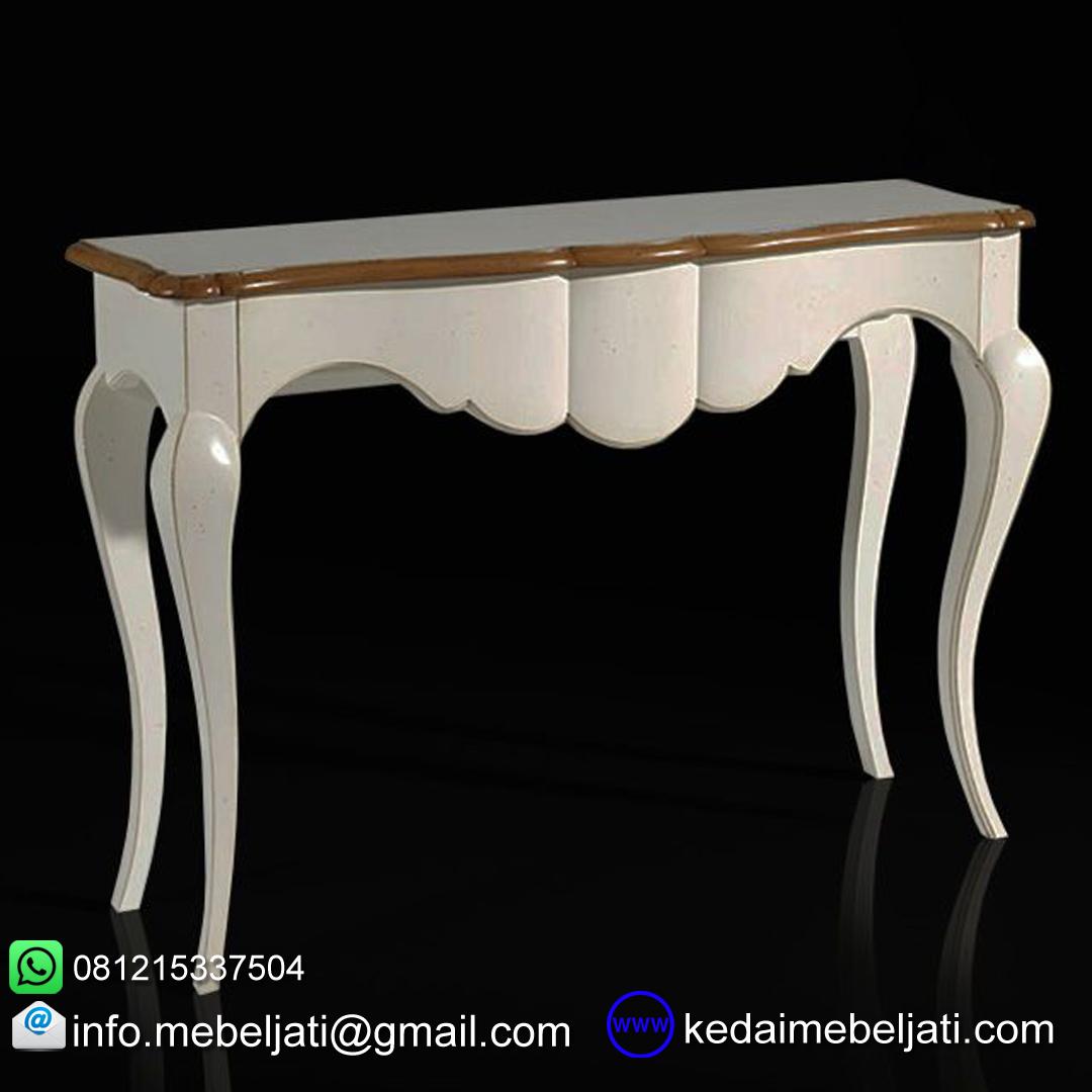 gambar meja konsul kayu mahoni design klasik KKK 053