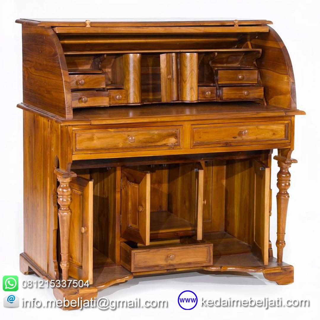 gambar meja tulis model klasik Roll top amerika KMT 038 terbuka