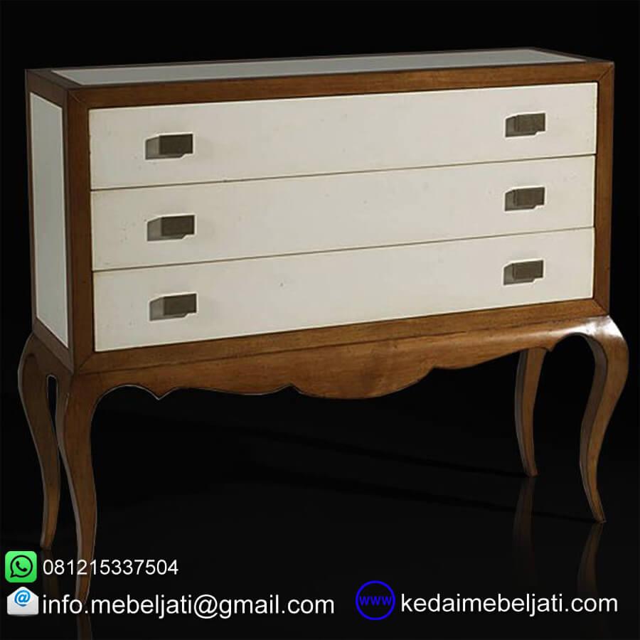 gambar nakas laci neo classical design KNL 072