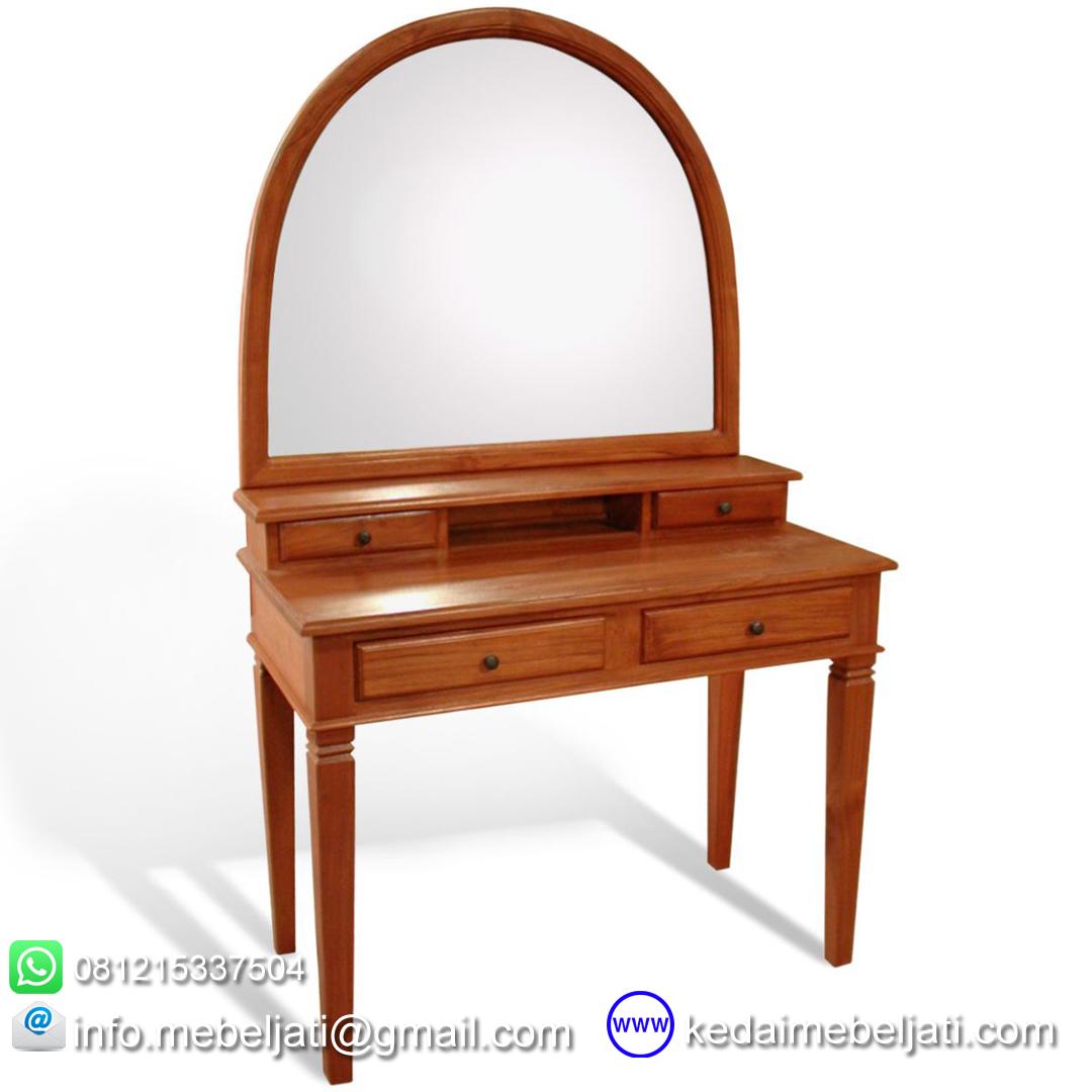 meja rias kayu jati