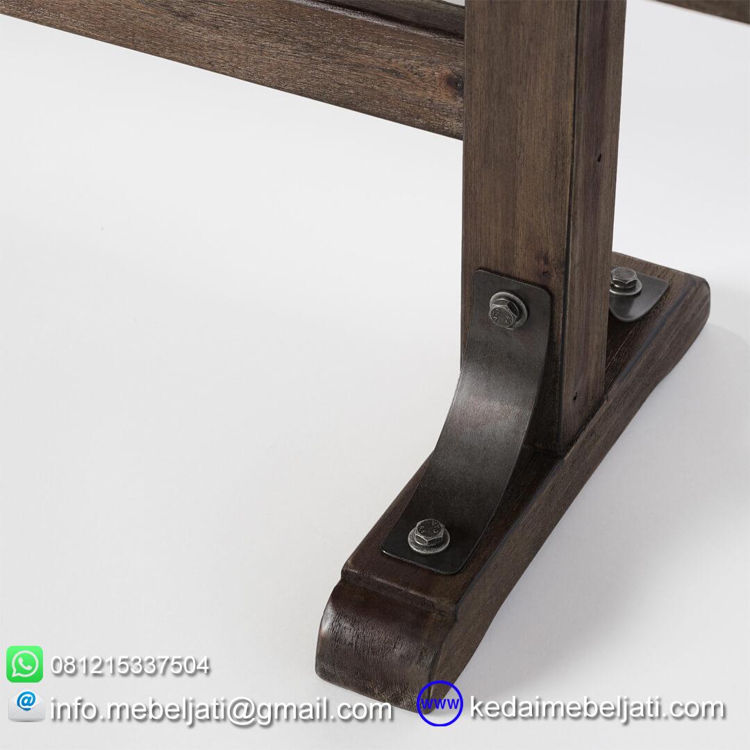 Bangku antik kayu jati detail kaki