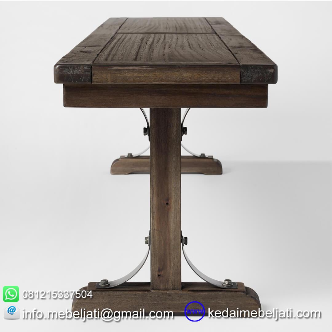Bangku antik kayu jati tampak samping