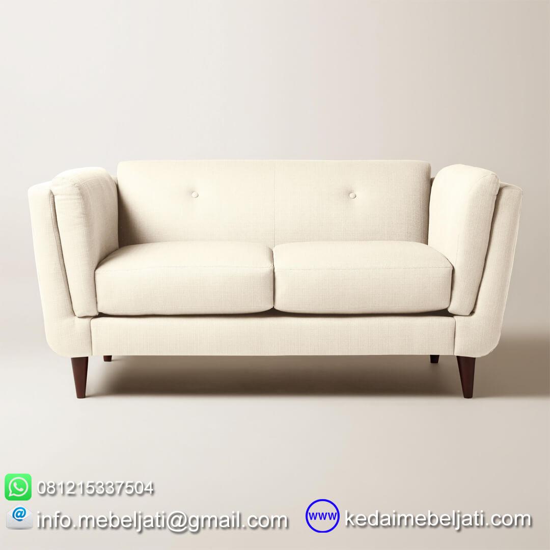 Sofa retro 2 dudukan tampak samping