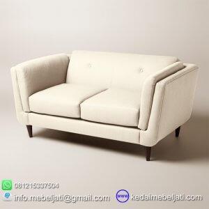 Sofa retro 2 dudukan vintage scandinavian