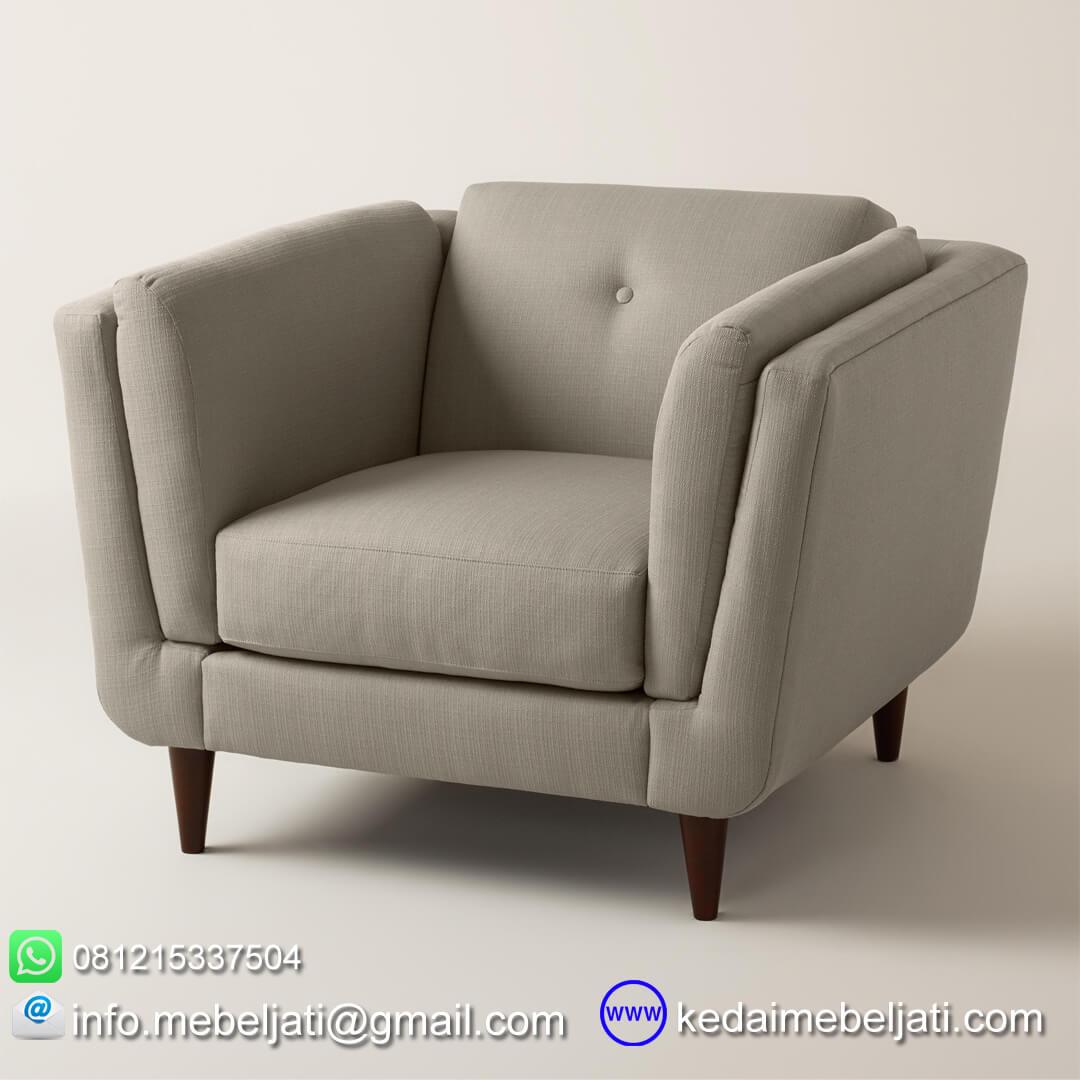 Sofa Modern Minimalis Terbaru Model Vintage Single Kayu Jati