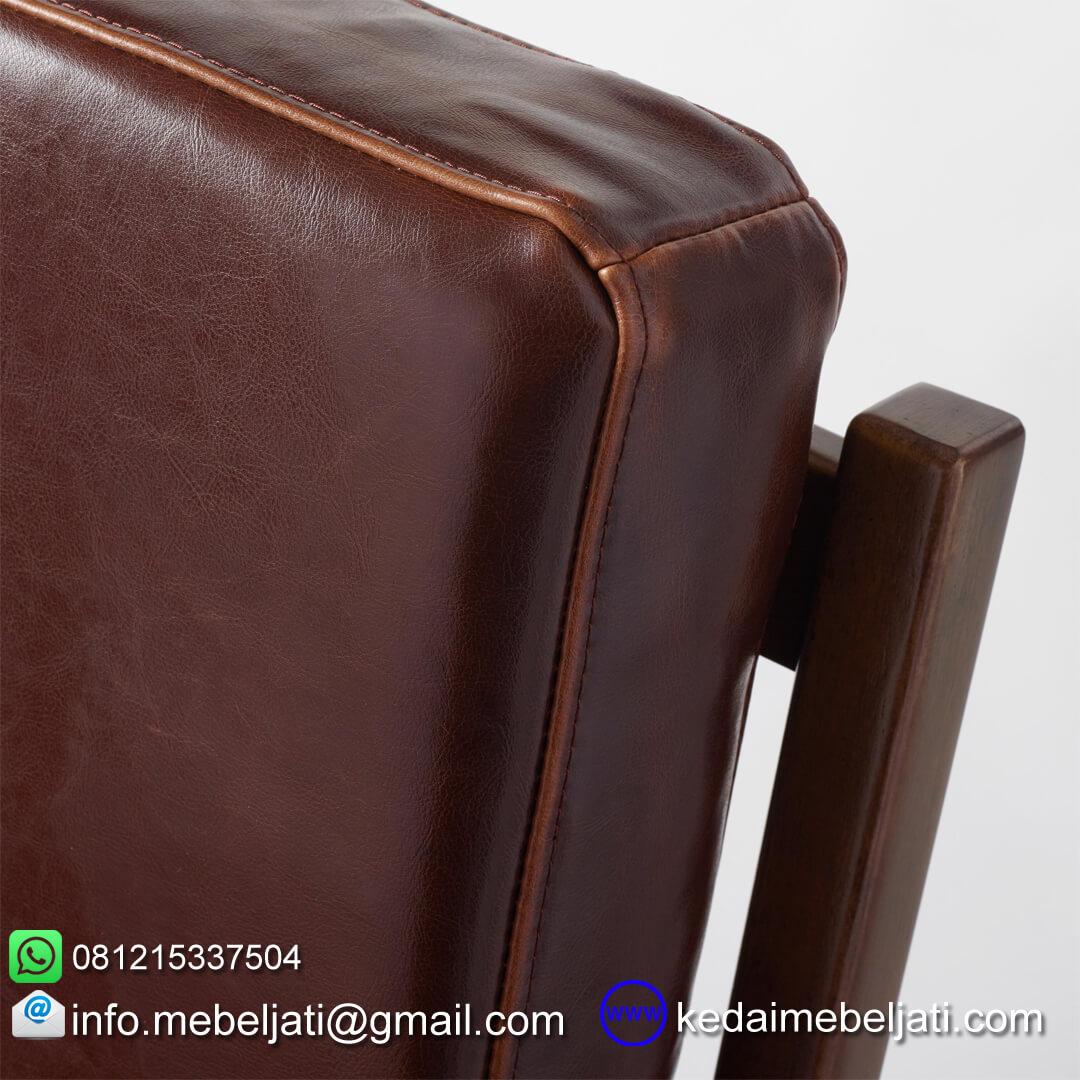 Kursi tamu vintage minimalis jok kulit detail jpk