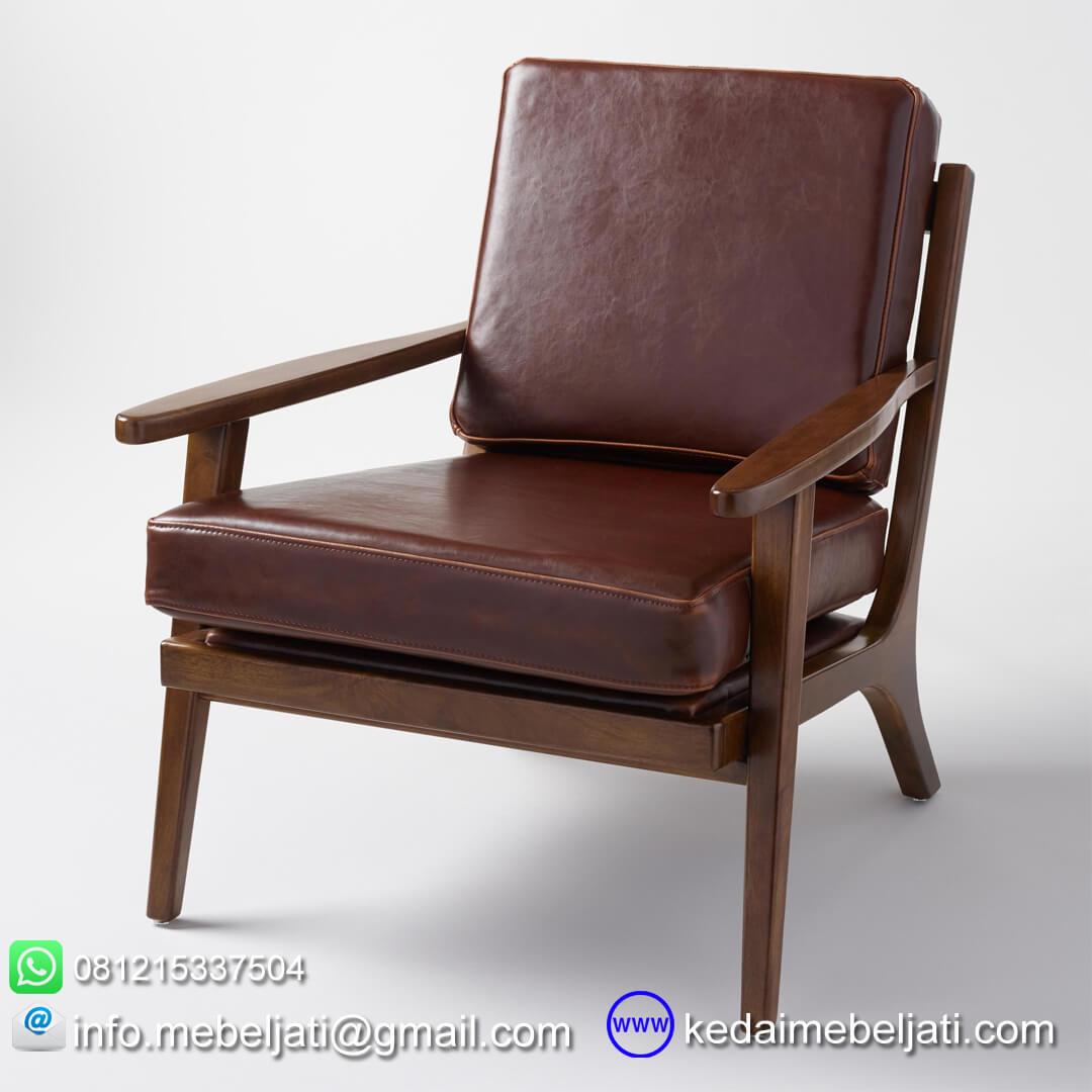 Kursi tamu vintage minimalis jok kulit