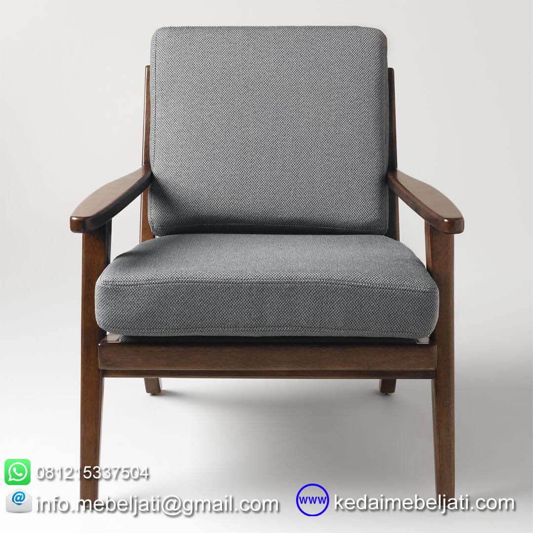 Kursi tamu vintage minimalis tampak depan
