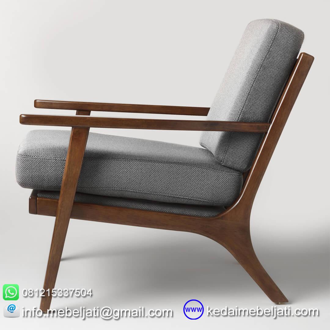 Kursi tamu vintage minimalis tampak samping