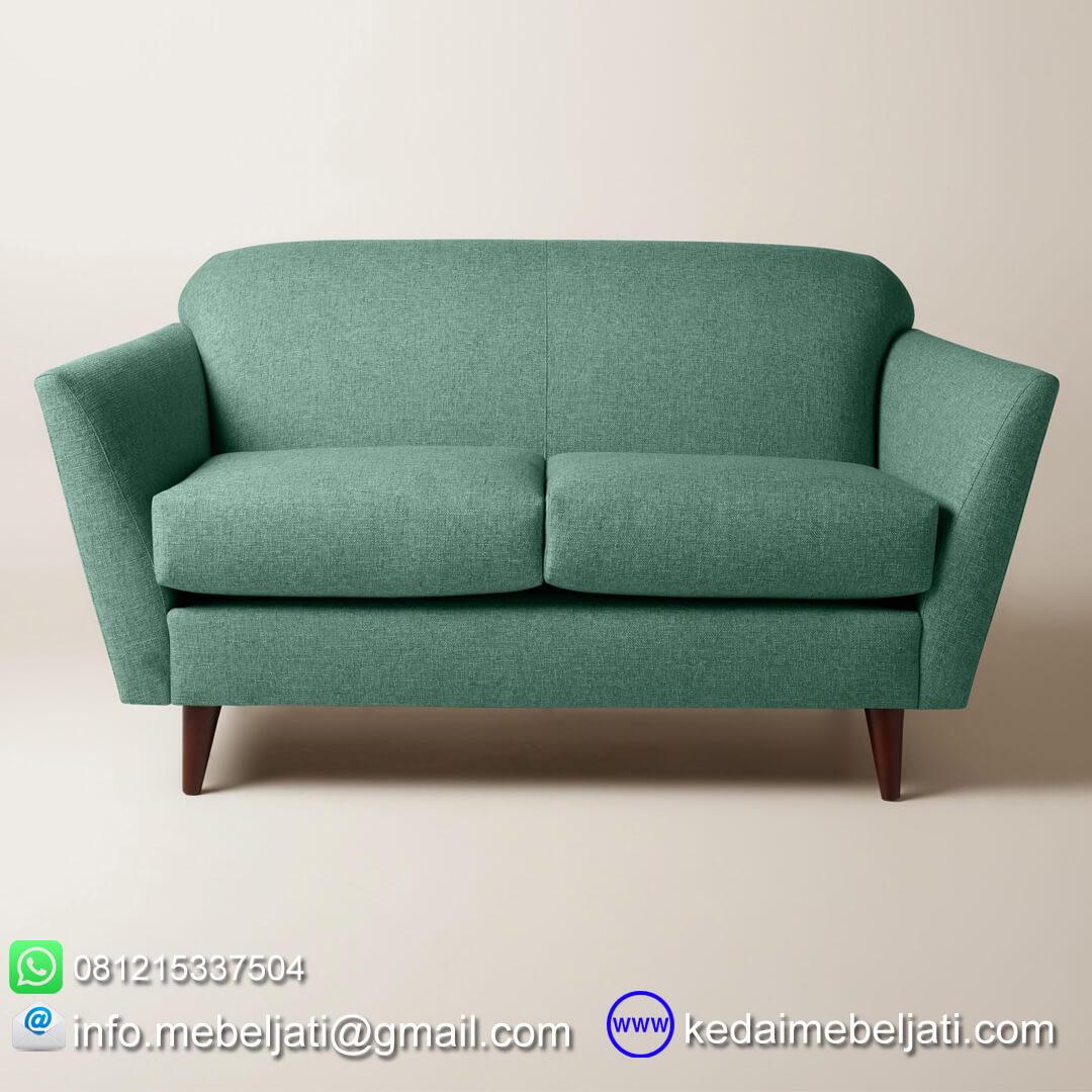 Sofa vintage retro scandinavia 2 dudukan depan