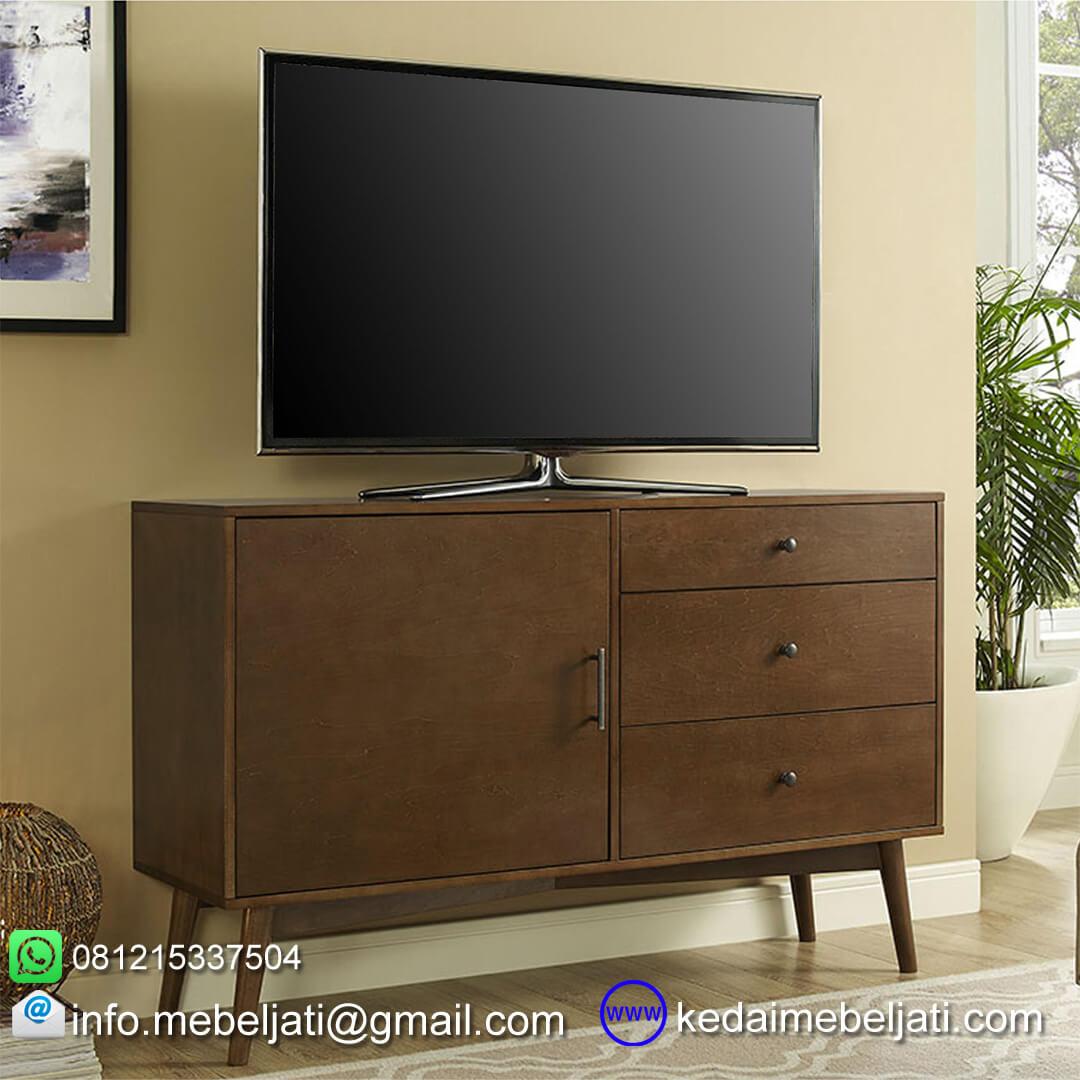 bufet Tv vintage minimalis dalam ruang keluarga