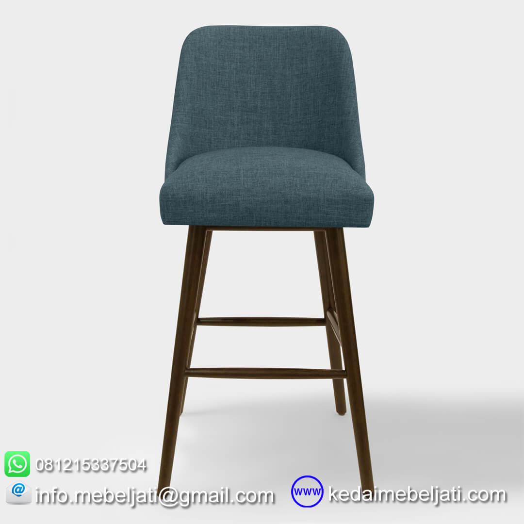 kursi bar minimalis vintage tampak depan