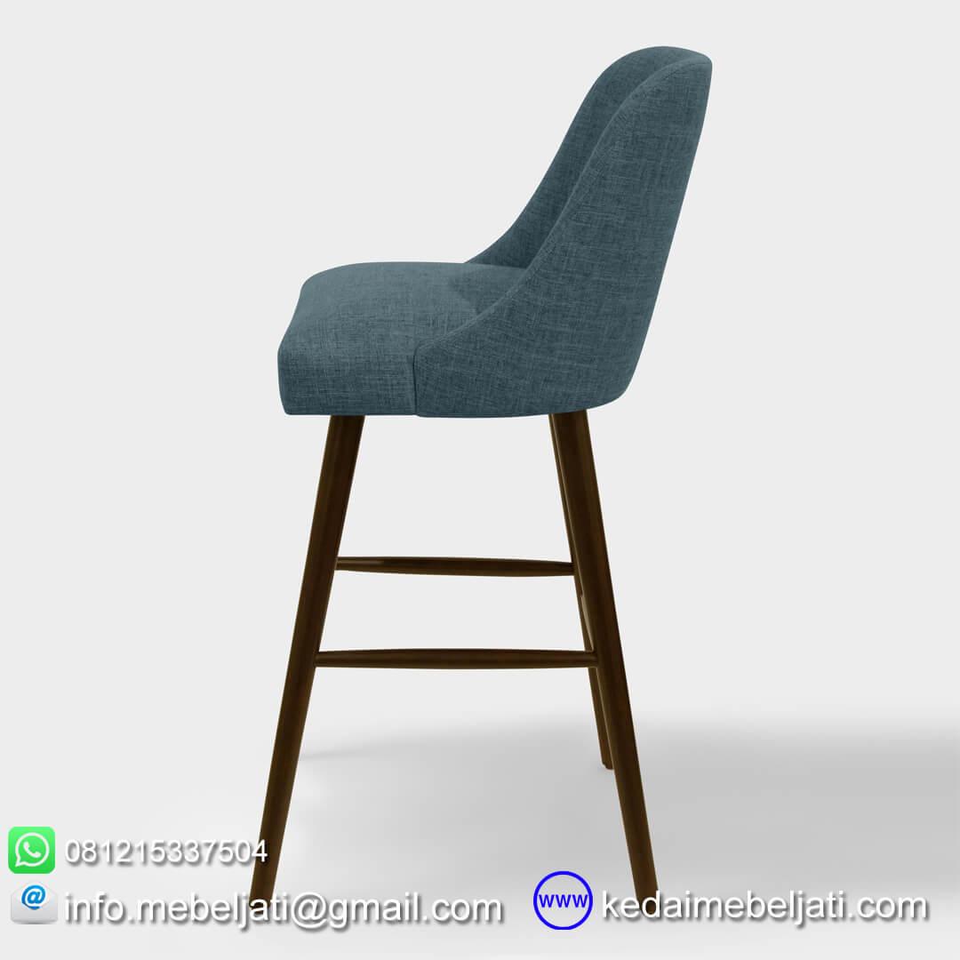 kursi bar minimalis vintage tampak samping