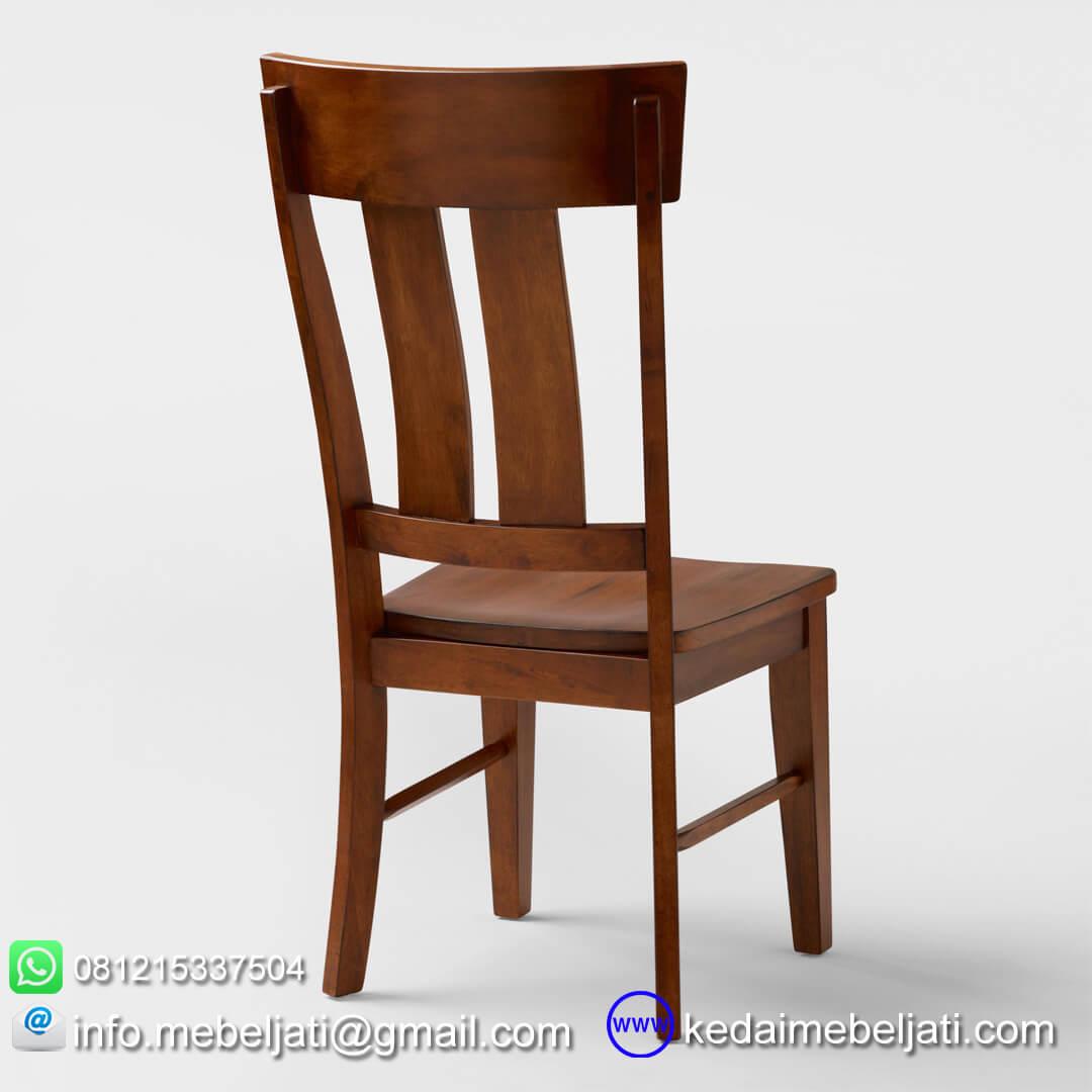 kursi makan jati minimalis highback tampak belakang