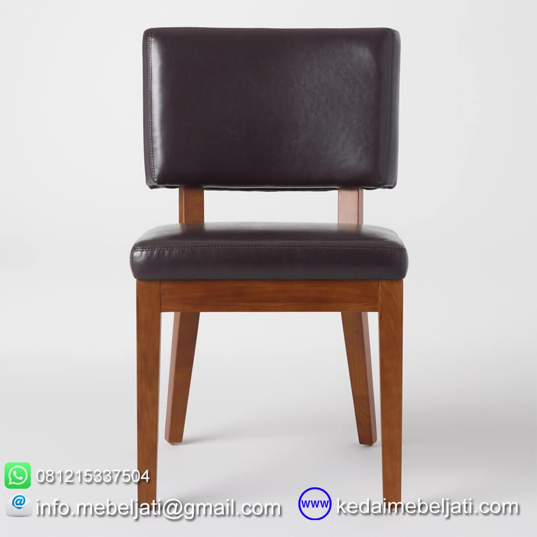 kursi makan jok hitam tampak depan