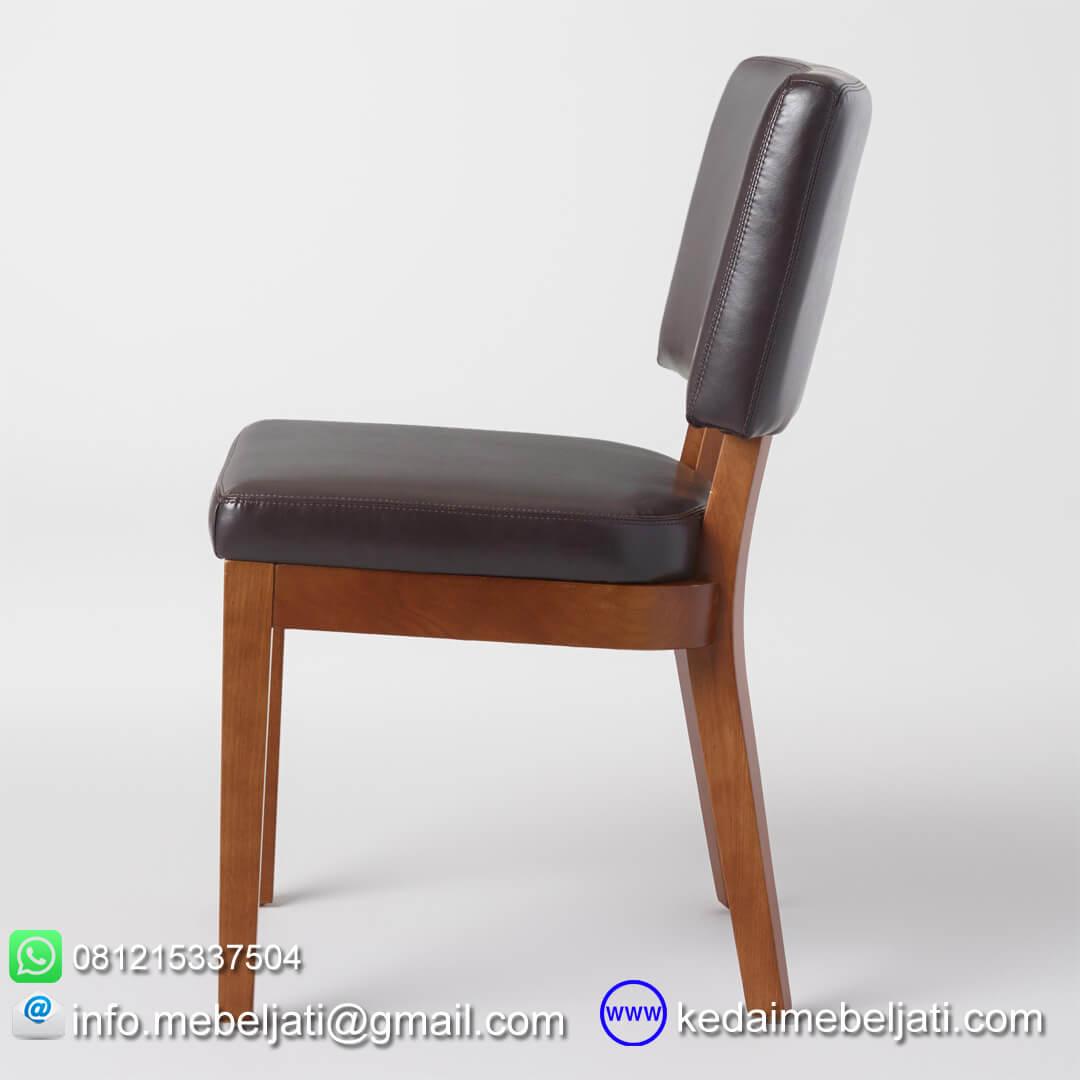 kursi makan jok hitam tampak samping